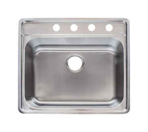 Franke  Stainless Steel  Top Mount  25-1/2 in. W x 22-1/2 in. L One Bowl  Kitchen Sink