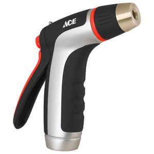 Ace  Aqua Gun  1 pattern Adjustable Spray  Metal  Hose Nozzle