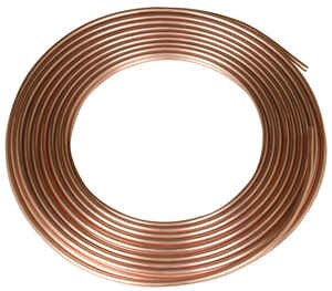 Mueller  3/8 in. Dia. x 25 ft. L Utility  Copper Water Tube