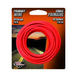 Coleman Cable  24 ft. 16 Ga. Primary Wire  Red