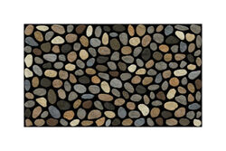 J & M Home Fashions 30 in. L x 18 in. W Pebbles Rubber Nonslip Door Mat
