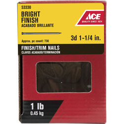 Ace 3D 1-1/4 in. Finishing Bright Steel Nail Countersunk 1 lb.
