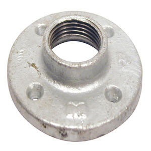 BK Products  1-1/4 in. FPT   Galvanized  Malleable Iron  Floor Flange