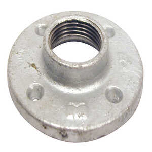 B & K  1-1/4 in. FPT   Galvanized  Malleable Iron  Floor Flange