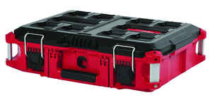 Milwaukee  PACKOUT  22.1 in. W x 16.1 in. H Impact-Resistant Poly  Red  Black/Red  Tool Box  16.1 in