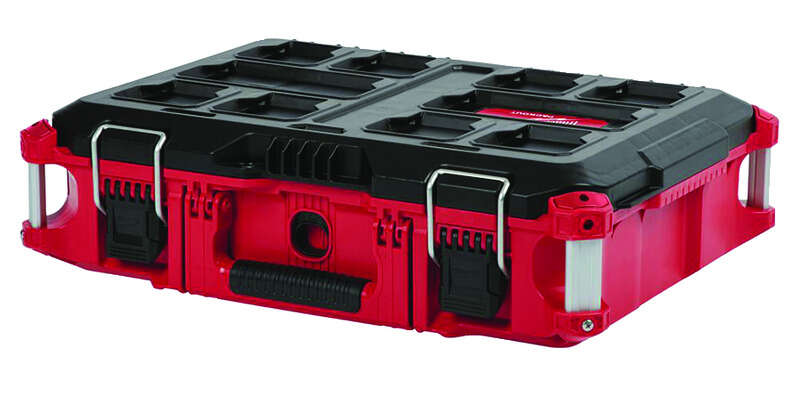 Milwaukee  PACKOUT  16.1 in. Impact-Resistant Poly  Tool Box  22.1 in. W x 16.1 in. H Black/Red