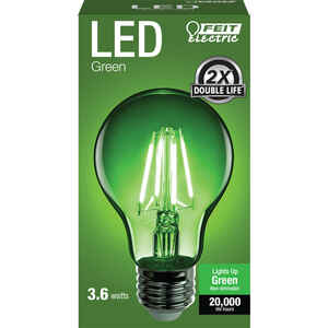 FEIT Electric  Filament  A19  E26 (Medium)  LED Bulb  Green  30 Watt Equivalence 1 pk