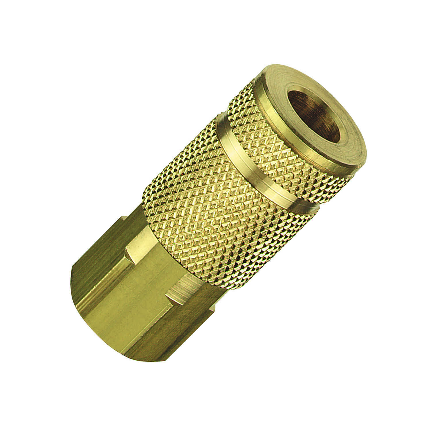 Tru-Flate  Brass  Air Coupler  1/4 in. Female  1 pc.