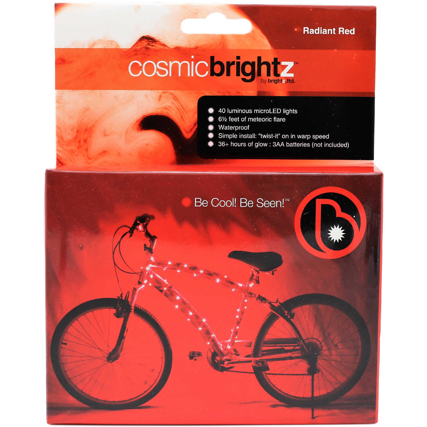 Brightz.  CosmicBrightz  bike lights  LED Bicycle Light Kit  ABS Plastics/Electronics  1 pk