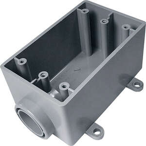 Cantex  Rectangle  PVC  1 Gang  Gray  2-1/4 in. Electrical Box