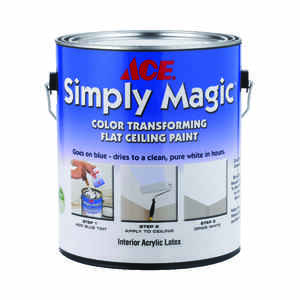 Ace  Simply Magic  Flat  White  Acrylic Latex  Color Changing Ceiling Paint  Indoor  1 gal.