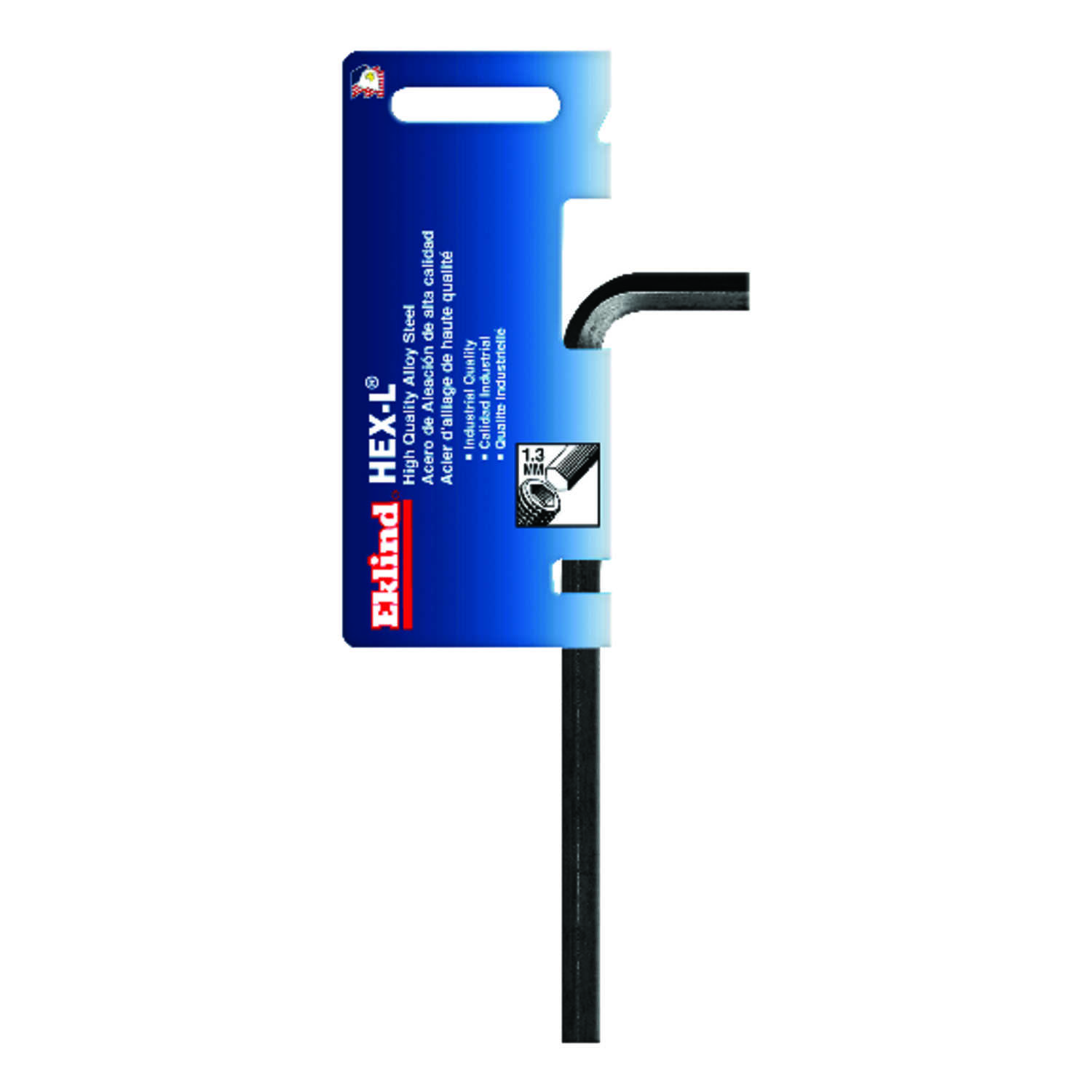 Eklind Tool  1.3mm  Metric  Long Arm  Hex L-Key  2.84 in. 1 pc.