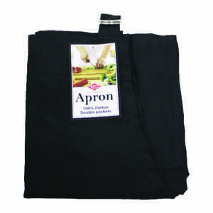John Ritzenthaler  Black  Cotton  Apron