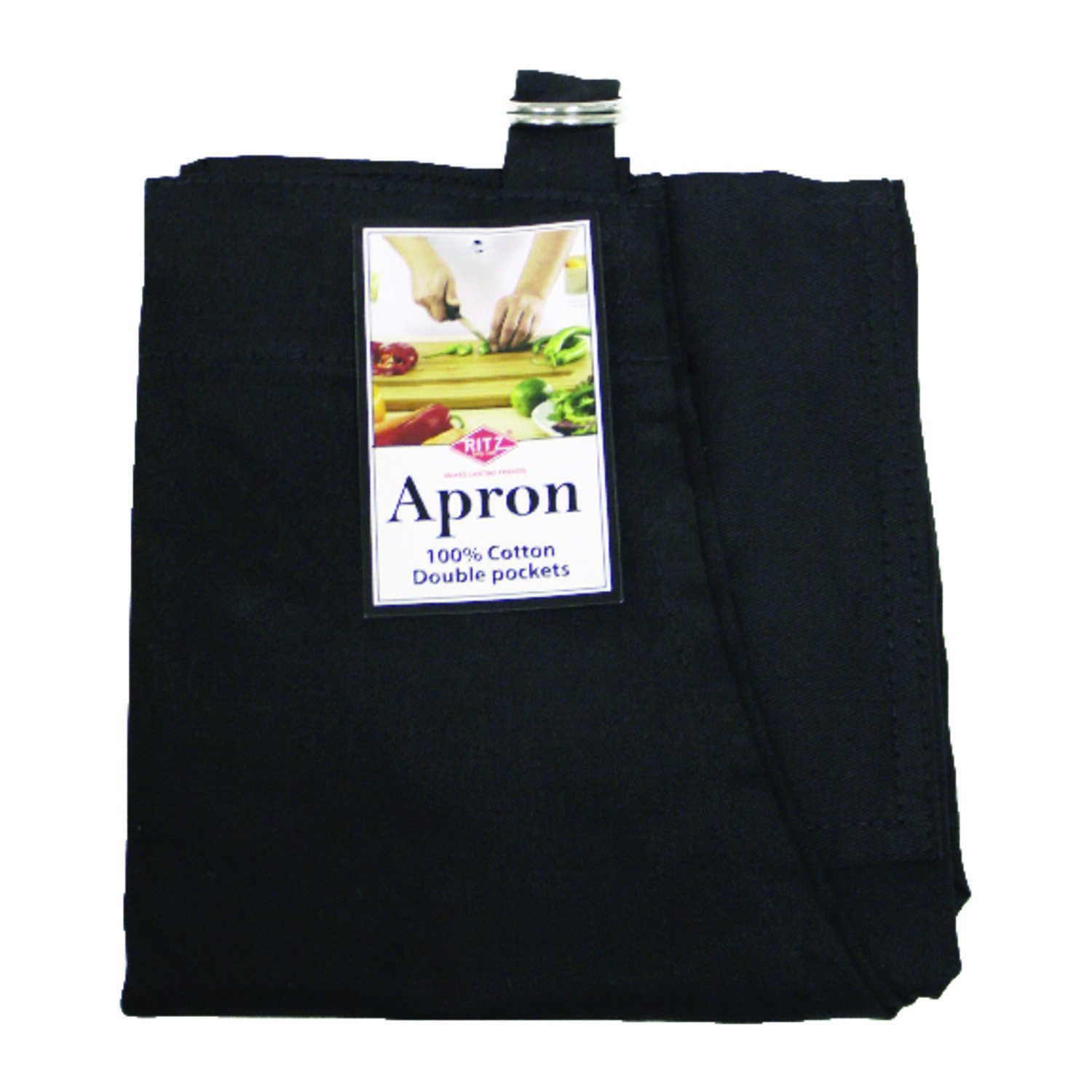 RITZ  Black  Cotton  Solid  Apron