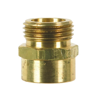 JMF  Brass  3/4 in. Dia. x 3/4 in. Dia. Hose Adapter  Yellow  1 pk