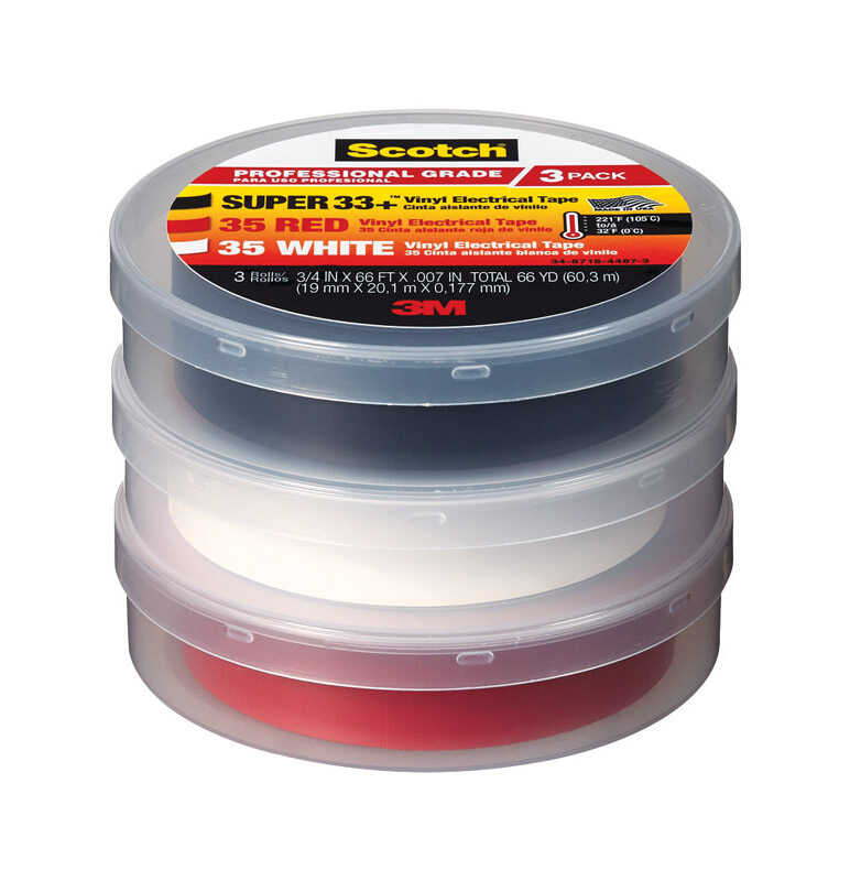 Scotch  3/4 in. W x 66 ft. L Multicolored  Vinyl  Electrical Tape