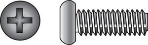 Hillman  No. 8-32 in.  x 1/2 in. L Phillips  Pan Head Stainless Steel  Machine Screws  100 pk