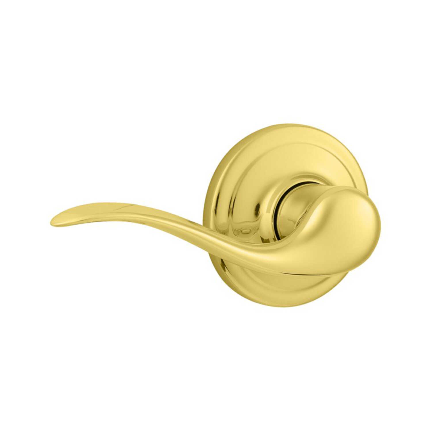 Kwikset  Tustin  Polished Brass  Steel  Dummy Lever  2 Grade Left Handed