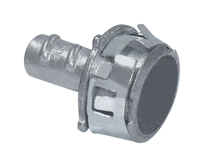 Sigma Electric ProConnex  Snap Lock  3/8 in. Dia. Die-Cast Zinc  Screw-In Connector  For FMC 25 pk