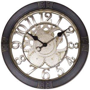 Westclox  Indoor  Classic  Analog  Wall Clock  Glass/Plastic  Black/Silver