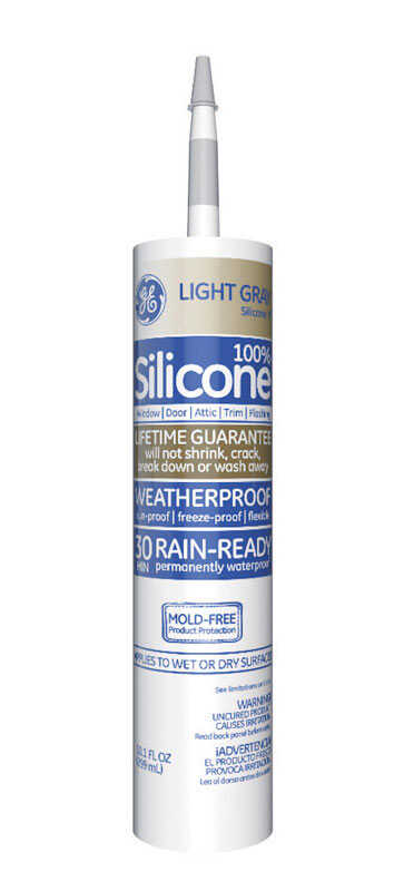GE  Silicone 2  Light Gray  Silicone 2  Window and Door  Sealant  10.1 oz.
