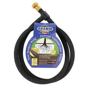 Dramm  Colorstorm  5/8 in. Dia. x 5 ft. L Soaker  Black  Rubber  Tree Soaker Ring