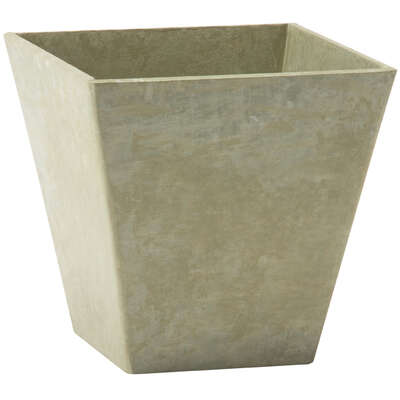 Novelty  Artstone  11.5 in. H x 11.75 in. W Mint  Resin/Stone Powder  Ella  Flower Pot