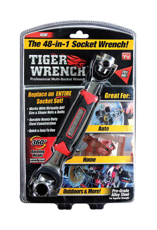Tiger Wrench  As Seen On TV  48-in-1  Steel  Metric and SAE  48-in-1  Ratchet  1 pc.