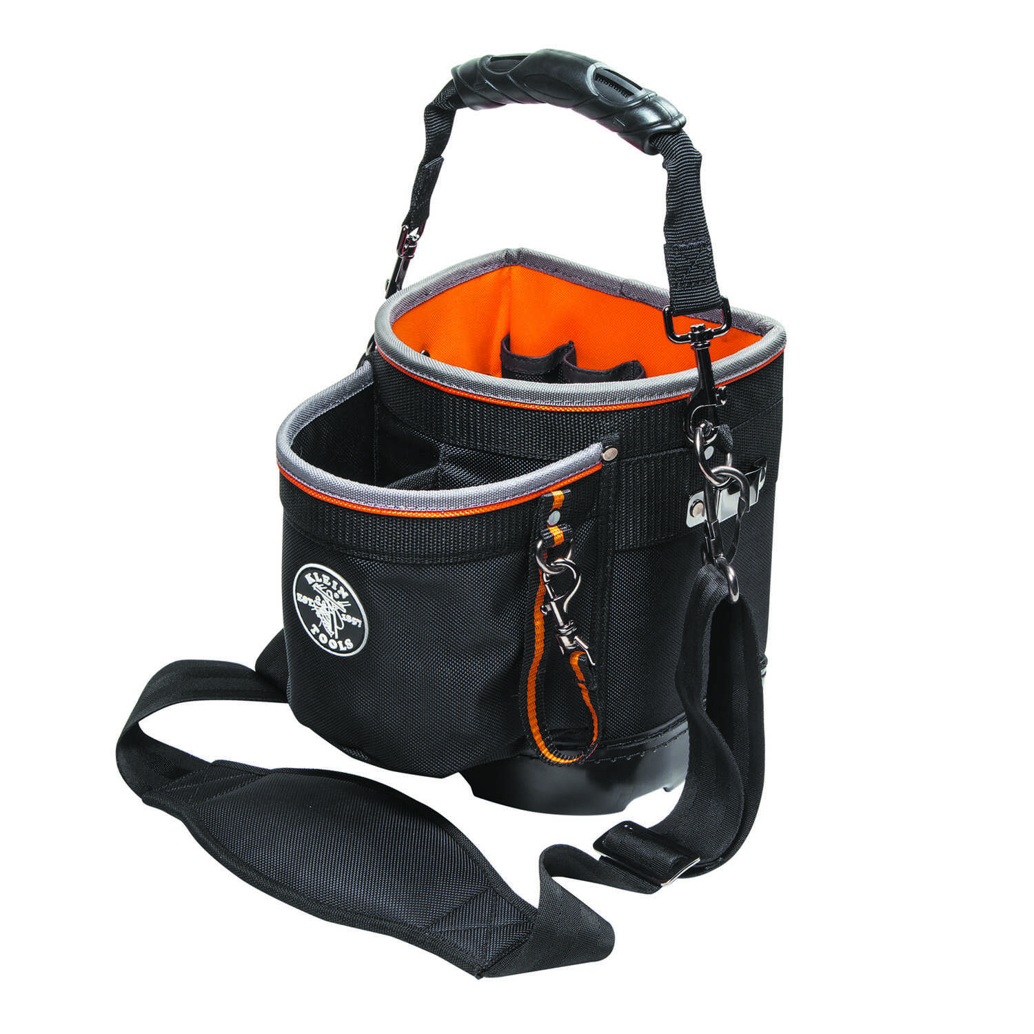 Klein Tools  Tradesman Pro  5 in. W x 10 in. H Ballistic Nylon  Tool Pouch  14 pocket Black/Orange