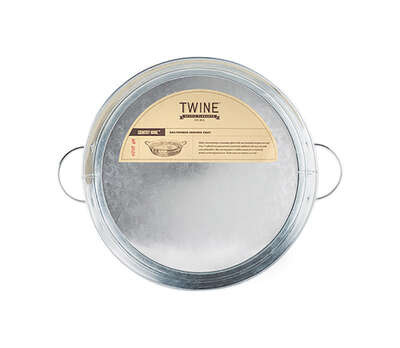 Twine  Country Home  Silver  Metal  Serving Tray