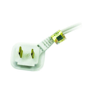 Ace  Indoor  6 ft. L White  Extension Cord  16/2 SPT-2