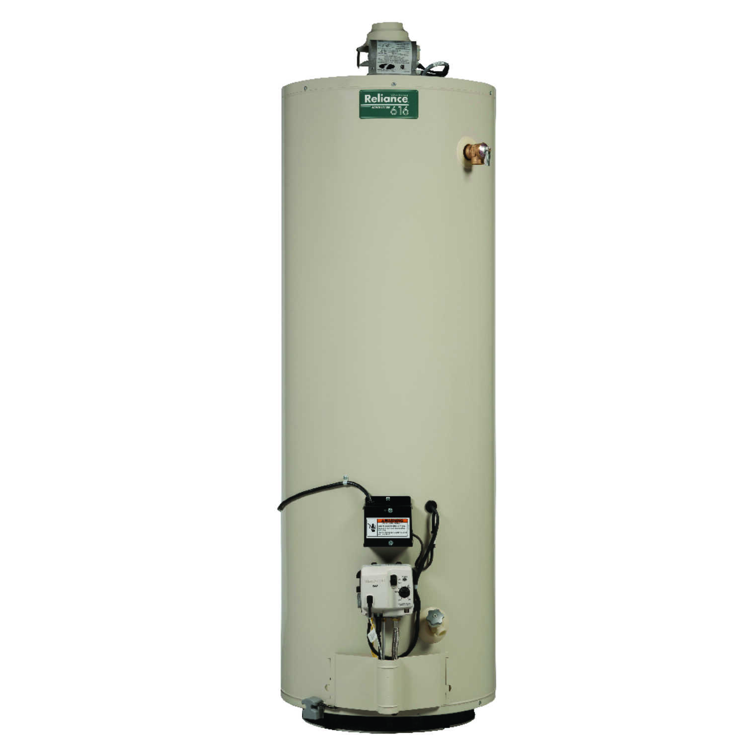 Reliance  Water Heater  Natural Gas  40 gal. 64-1/4 in. H x 20 in. L x 20 in. W