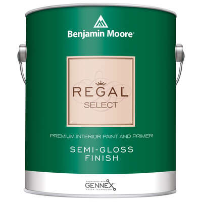 Benjamin Moore  Regal Select  Semi-Gloss  Base 1  Paint and Primer  Interior  1 qt.