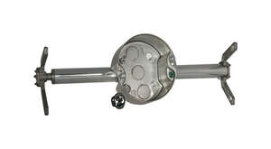 Raco  Round  Steel  1 Gang  Gray  Fan Box  3-1/2 in.