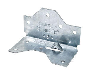 Simpson Strong-Tie  1.4 in. W x 2.5 in. L Galvanized Steel  Angle