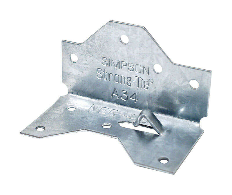 Simpson Strong-Tie  1.4 in. W x 2.5 in. L Galvanized Steel  Framing Angle