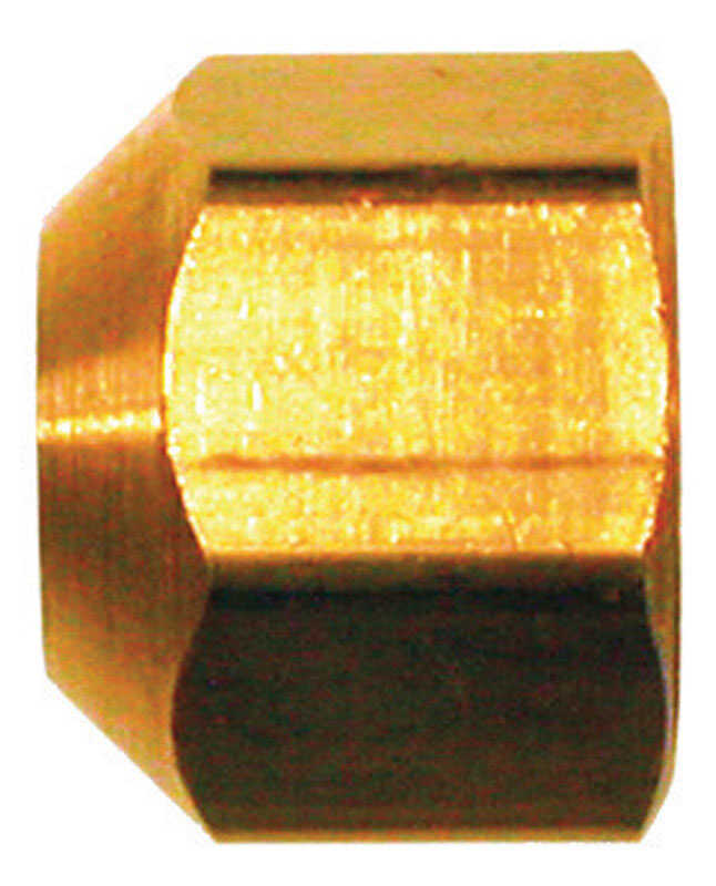 JMF  1/4 in. Dia. Flare To Flared  Yellow Brass  Cap