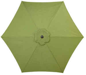 Living Accents  Peyton  9 ft. Tiltable Green  Patio Umbrella