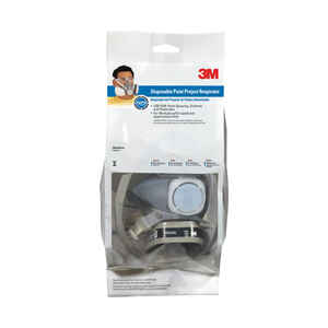 3M  P95  Paint Spray and Pesticide Application  Half Face Respirator  Gray  M/L  1 pc.