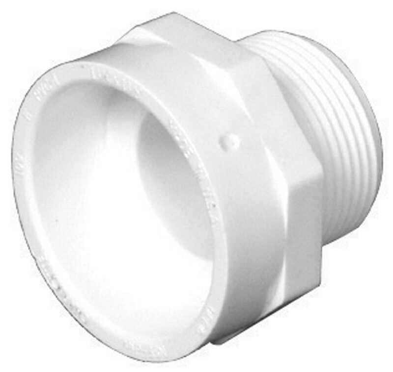 Charlotte Pipe  1-1/4 in. Hub   x 1-1/4 in. Dia. MPT  Pipe Adapter