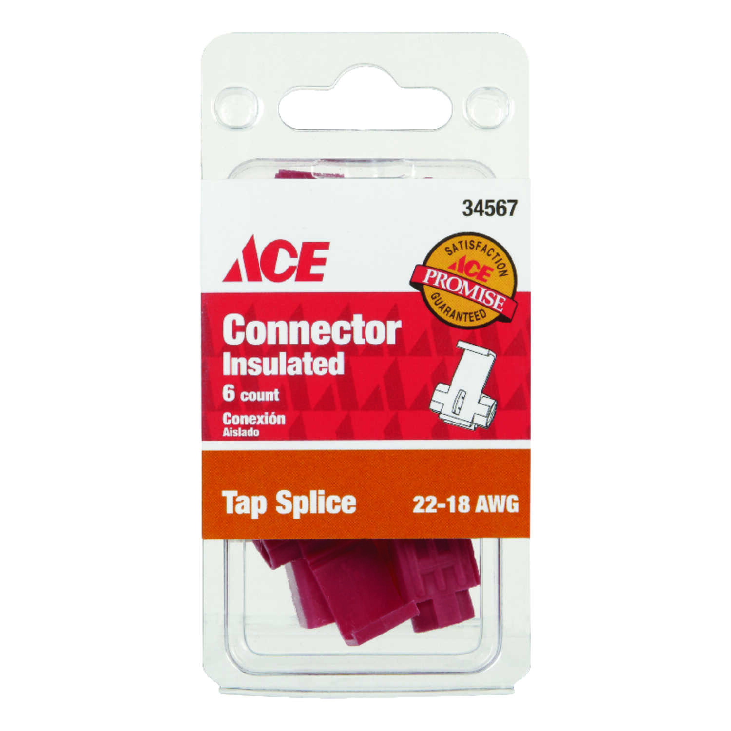 Ace  Tap Splice Connector  6  Insulated Wire  22-18 AWG