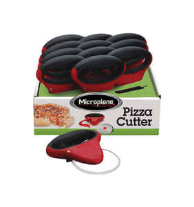 Microplane  5.12 in. W x 6.5 in. L Black/Red  Plastic/Stainless Steel  Pizza Cutter  1 pk