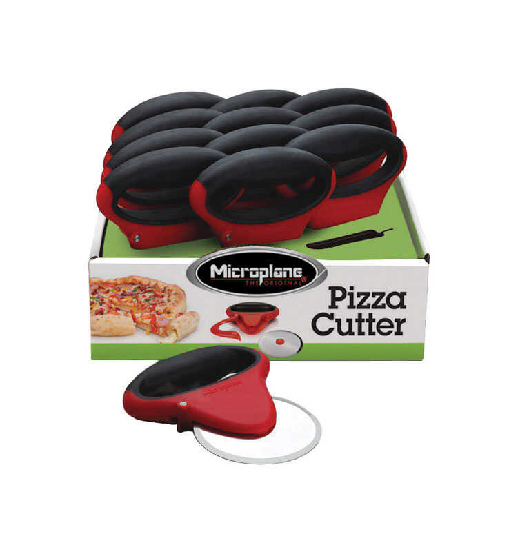 Microplane  5.12 in. W x 6.5 in. L Black/Red  Pizza Cutter