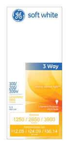 GE Lighting  100/200/300 watts PS25  Incandescent Bulb  1,250/2,650/3,900 lumens Soft White  A-Line