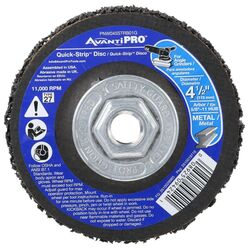 Avanti Pro  Quick-Strip  4-1/2 in. Dia. x 5/8 in.  Silicon Carbide  Grinding Disc