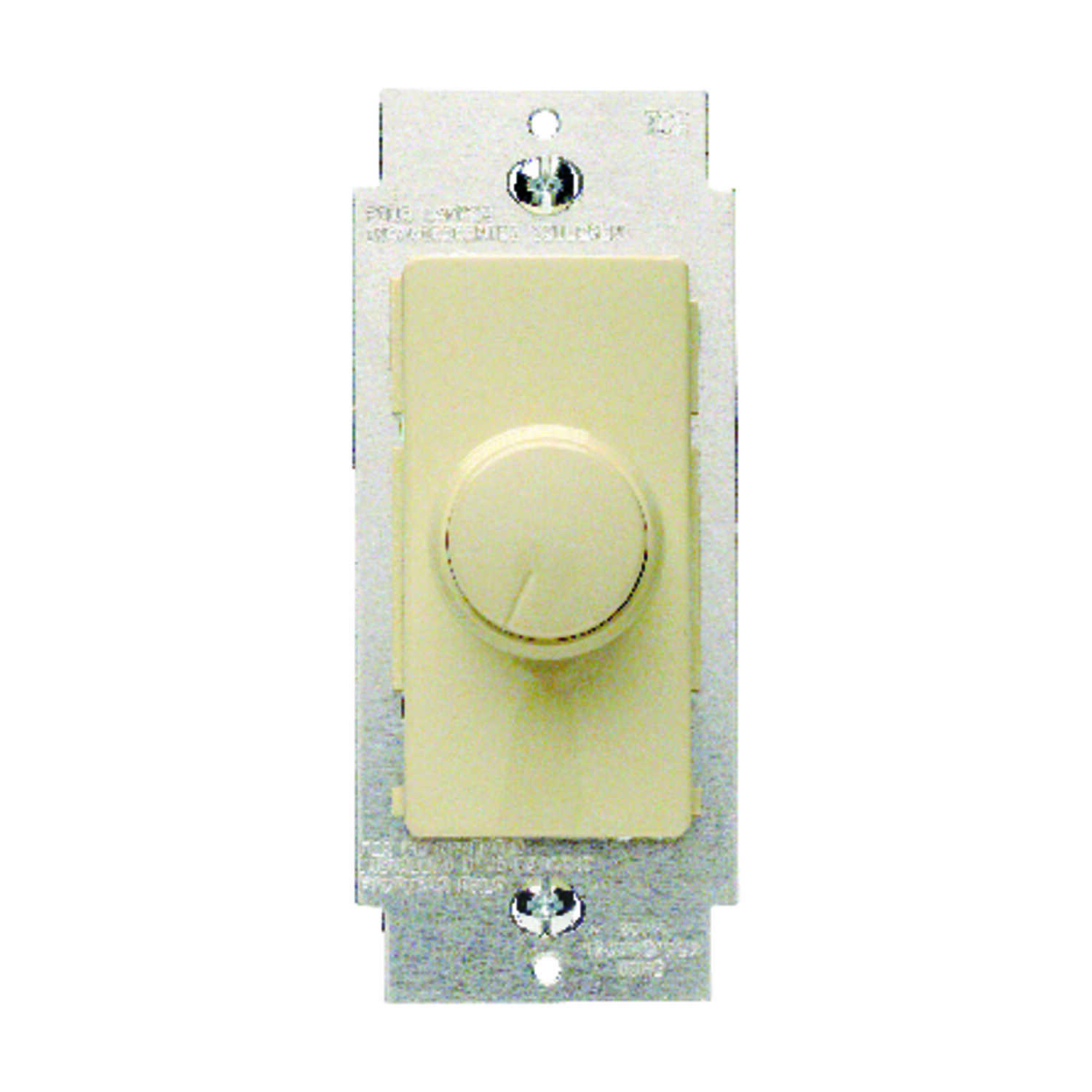 Leviton  IllumaTech  Ivory  600 watts Rotary  Dimmer Switch  1 pk