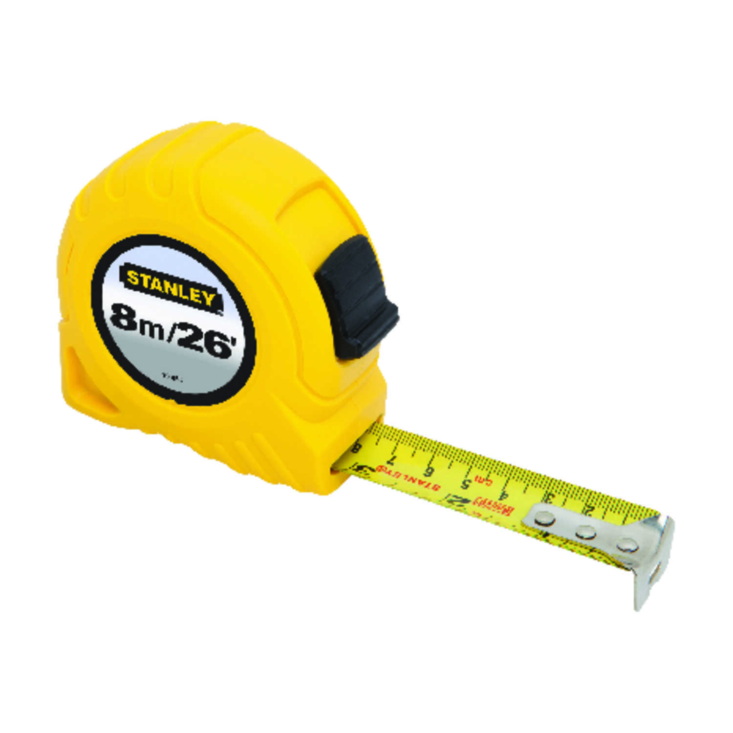 Stanley  1 in. W x 26 ft. L Tape Measure  Yellow  1 pk