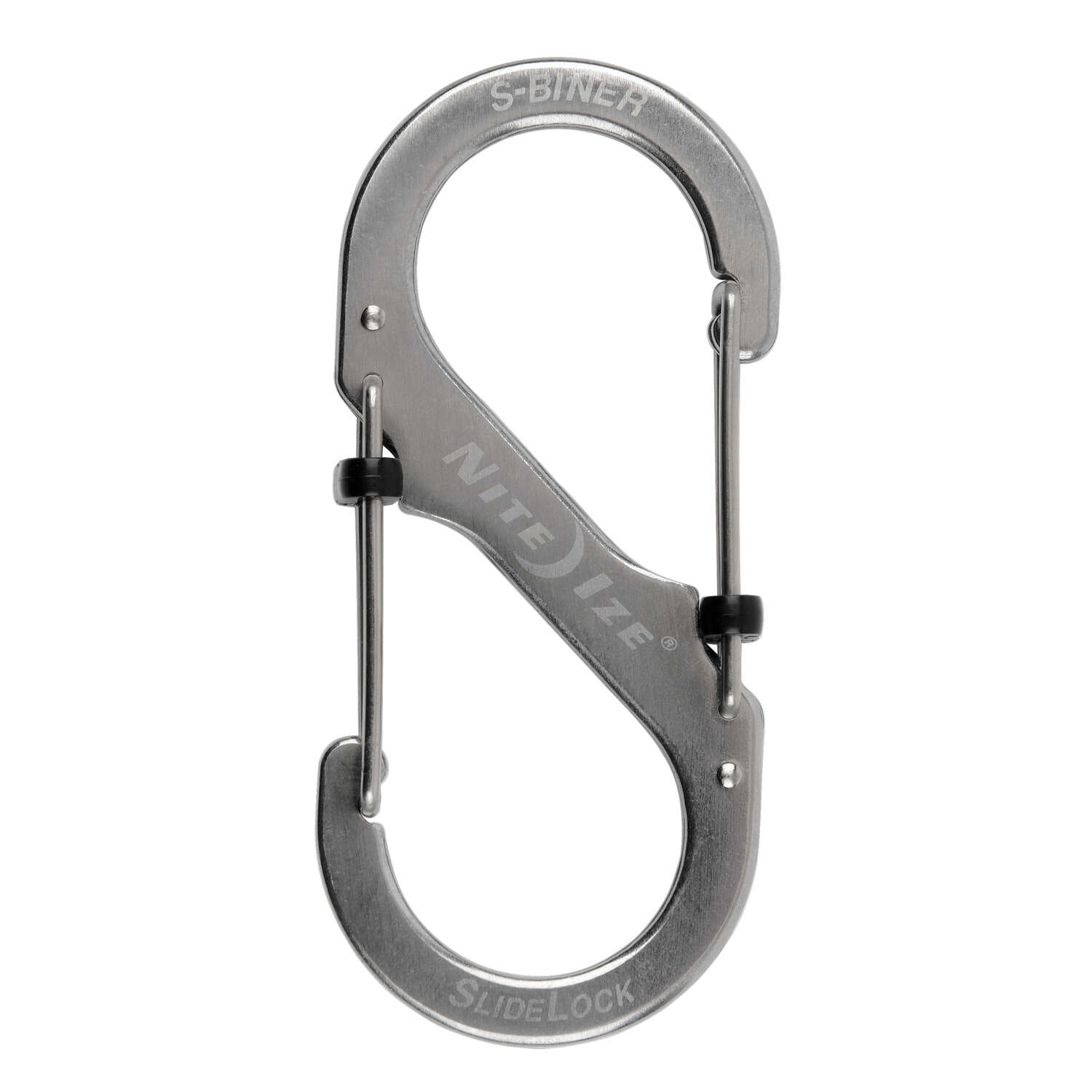 Nite Ize  S-Biner SlideLock  1.8 in. Dia. Stainless Steel  Silver  Carabiner  Key Holder