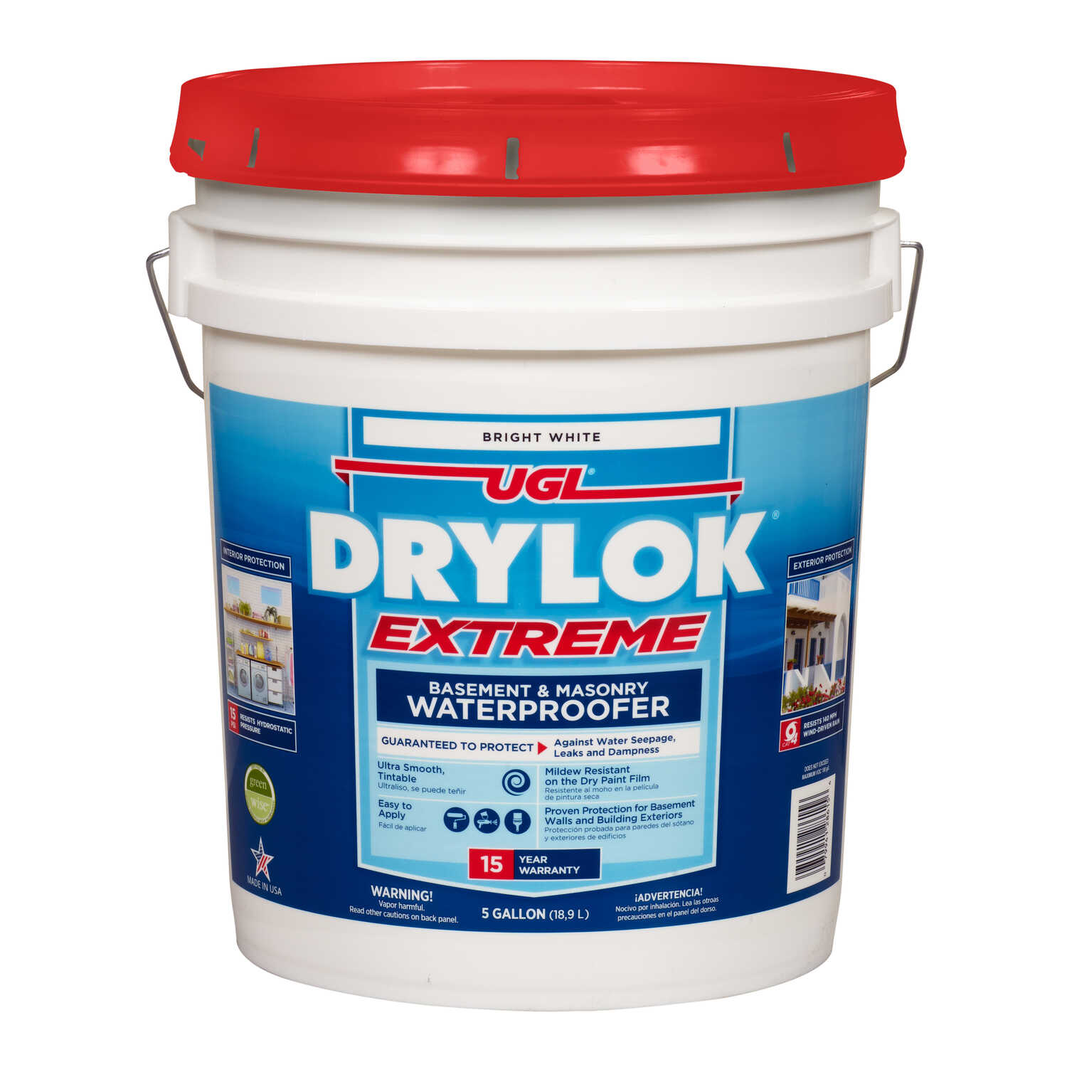 Drylok  Low Gloss  White  Latex  Waterproof Sealer  5 gal.
