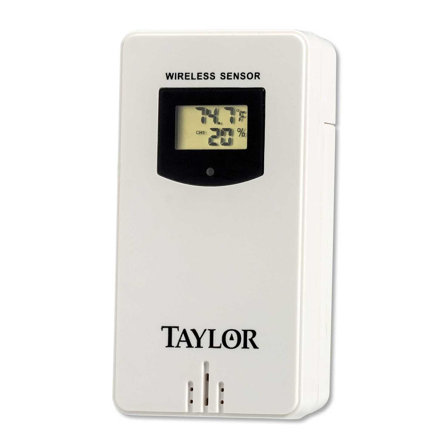 Taylor  Deluxe Wireless  Wireless Remote Sensor  Plastic  White